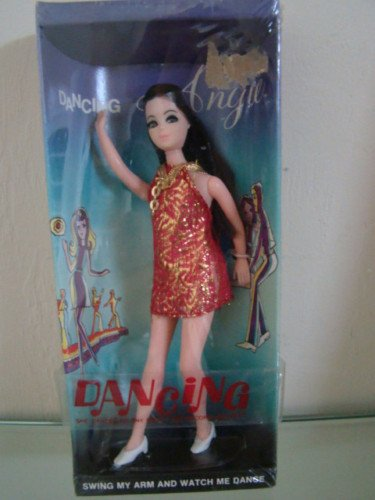 Dancing Angie Red Gold Brocade NRFB