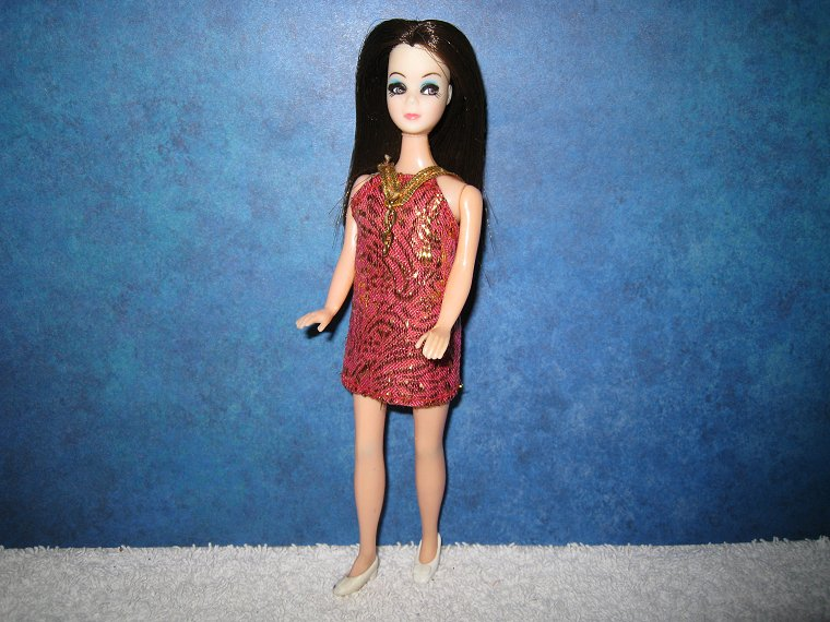 Dancing Angie--pink & gold brocade mini