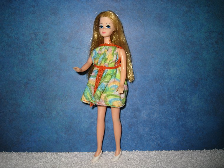Dawn Doll/'s Dancing Dress In Very Good Condition Blue Fringe