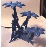 Blue Floral Stand