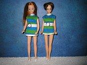 Jessica's Green & blue striped mini