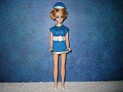 Jessica in blue uniform