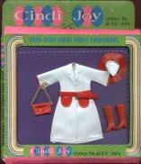 Cindi Joy --White & Red Raincoat