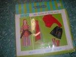 Petite Red Top & black vinyl skirt