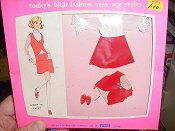 Petite Red and White Skirt Set