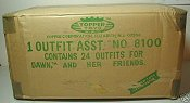 Shipping box with outfits