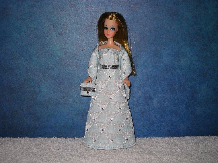 BLUE DIAMOND gown wrap & purse
