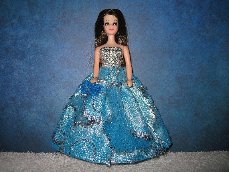 Blue And Silver Ballgown