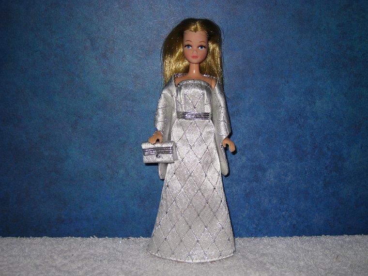 SILVER DIAMOND gown wrap & purse