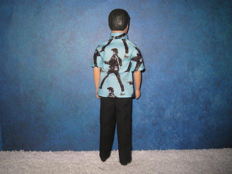 Elvis GARY guitar shirt & pants, reversible