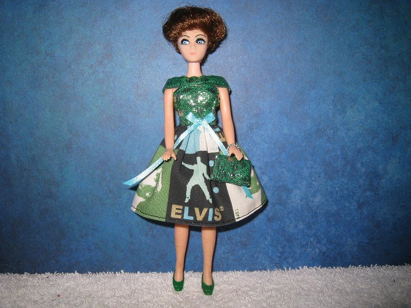 Elvis Squares Twirl Mini with purse