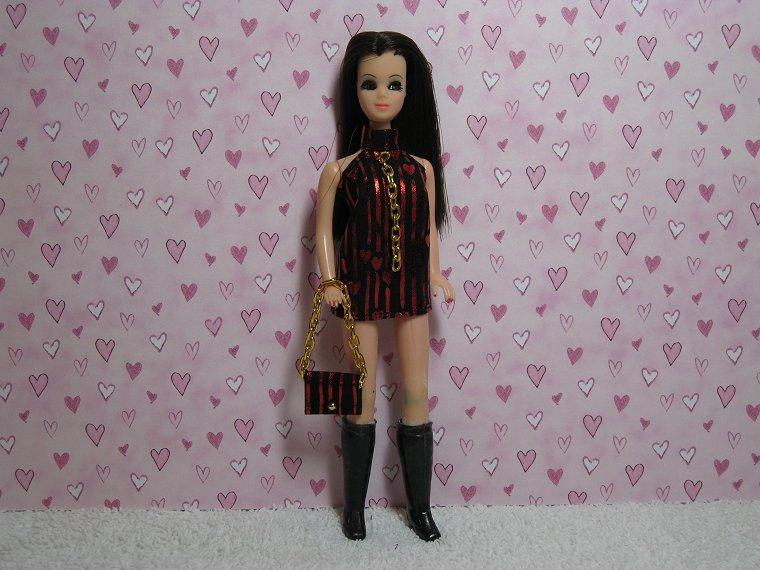 FALLING HEARTS Dancing Mini with purse