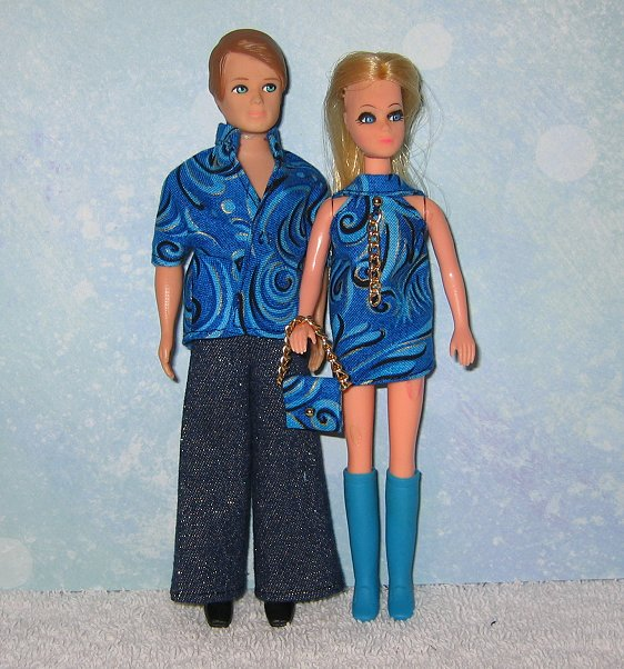 Blue & Black Swirls Gary & Dawn