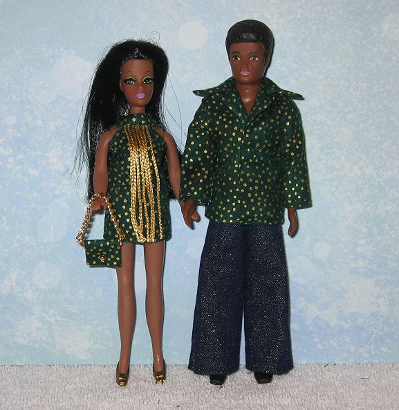 Gary & Dawn Emerald with Gold outfits