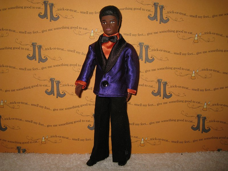 Tuxedo Purple and Orange