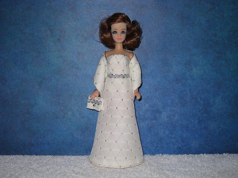 IVORY DIAMOND gown wrap & purse