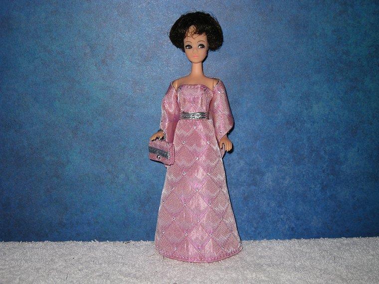 PINK CASCADE DIAMOND gown wrap & purse