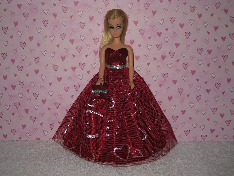 RED HOT 4U2 gown with purse