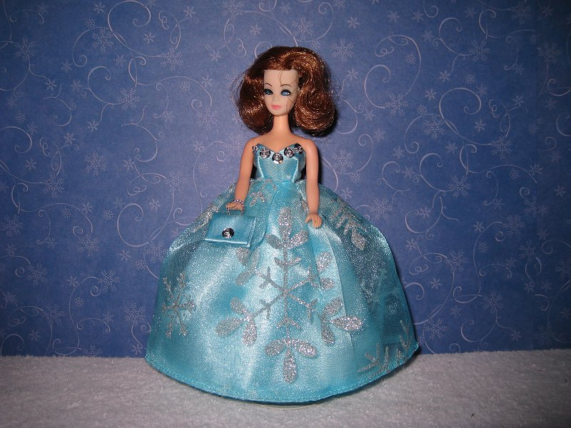 Light Blue & Silver ballgown