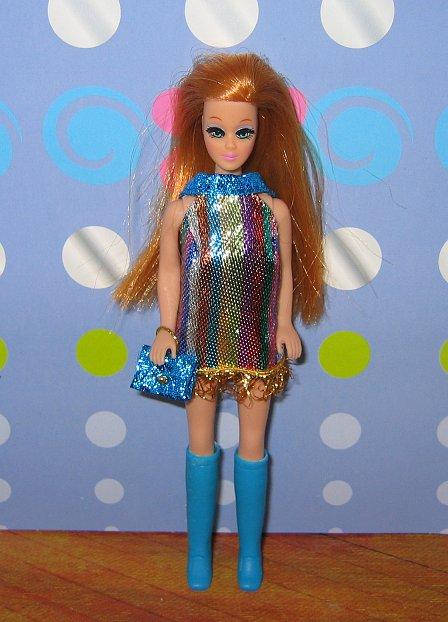 Striped mini + blue purse