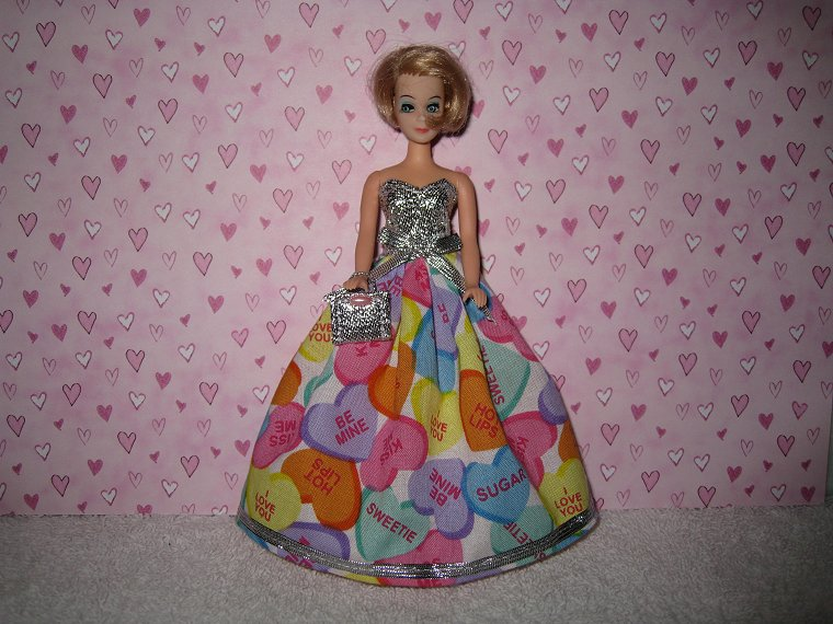 SWEET TARTS CANDY gown with purse