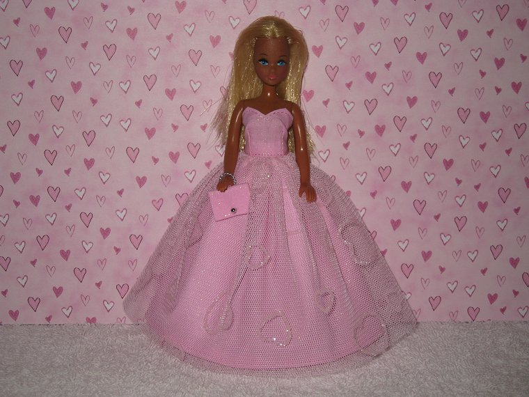 Valentine Gown #11 with purse