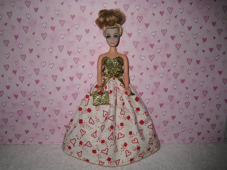 Valentine Gown #5 with purse
