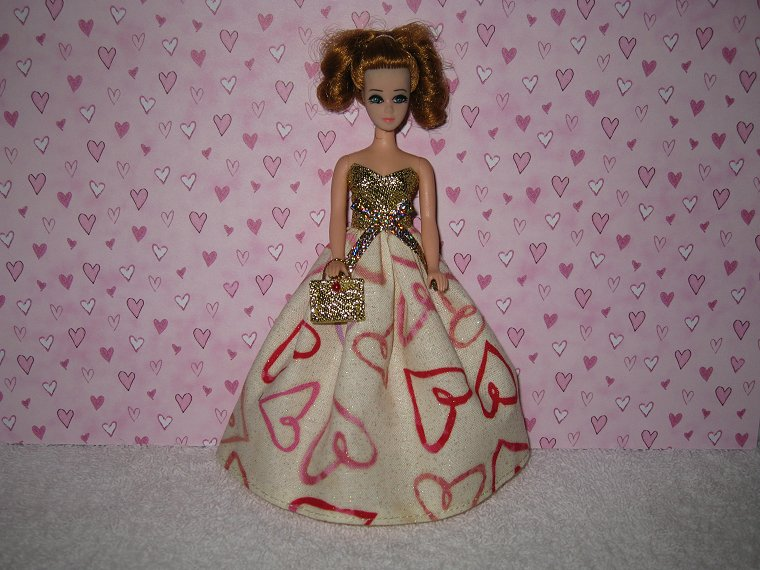 Valentine Gown #6 with purse