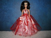 Valentine Red Tulle Gown