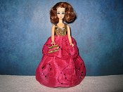 2 Tier Fuchsia Organza gown (Connie)