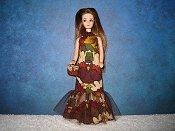 Autumn Turkey Fishtail Gown