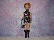 Black & Silver Dancing Mini with purse