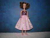 Pink Stripe Daisies Dress
