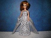 Elegance Silver Flower gown