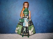 Elvis Square Dress with purse