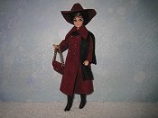 Maroon LNL with hat & purse