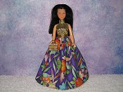 ASIAN GARDEN gown with purse