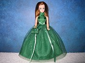 Emerald Glitter Halter Ballgown (LL)