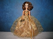 Gold Lace Ballgown Sweetheart bodice
