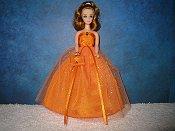 Orange Glitter Ballgown