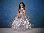 Silver Ballgown with halter top
