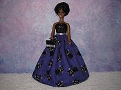 Black Cat gown with purse #1