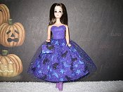 Black Cats Tulle Dress with purse (dancing body)