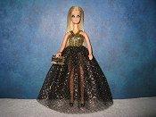 Black Diamond Mesh Gown