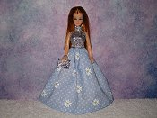 DAISY BLUE gown with purse