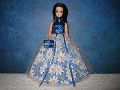 Blue Daisy Ballgown (Angie)