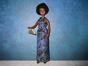Blue & Gold gown with purse (Mandy)