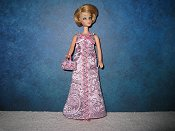 Lavender & Pink gown with purse (Jessica) o-ring