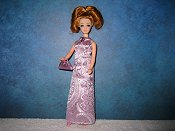 Lavender brocade gown with purse (Daphne)