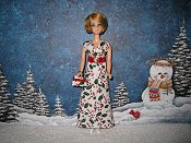 Candy Cane gown with purse